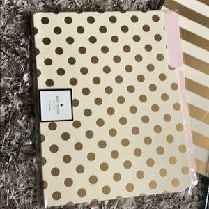 kate spade Office - New Kate Spade polka dot and striped file folders